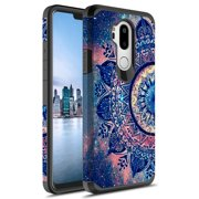 LG G7 Thinq Case,KAESAR Slim Hybrid Dual Layer Shockproof Hard Cover Graphic Fashion Cute Colorful Silicone Skin Cover Armor Case for LG G7 Thinq (Mandala)