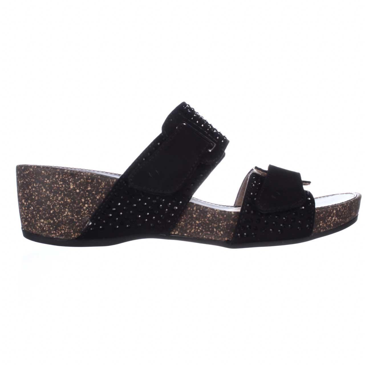 2044bda17ca2 Naturalizer - Womens naturalizer Carena Wedge Slide Sandals - Black -  Walmart.com