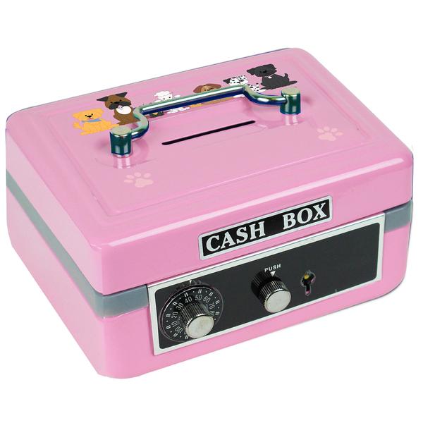Personalized Pink Dog Cash Box