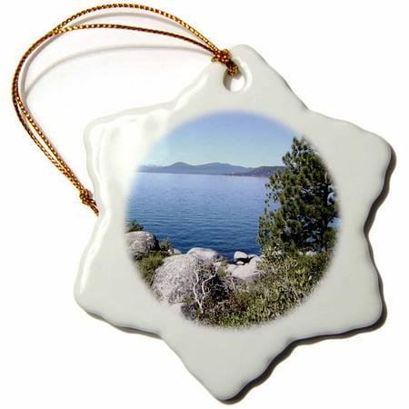 3dRose Lake Tahoe Nevada No 2 - Snowflake Ornament, 3-inch ()