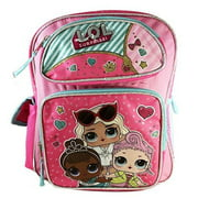 "L.O.L Surprise! Large School Backpack 16"" Book Bag Pink LOL bag New lol"