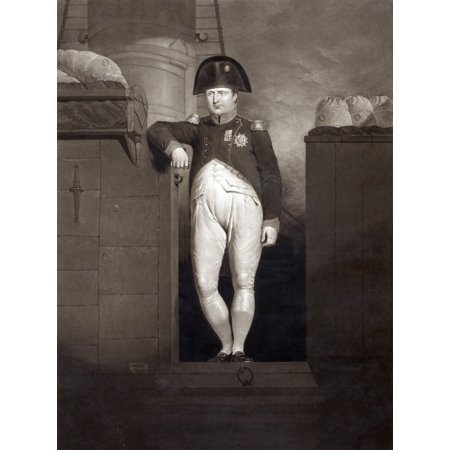 Napoleon I Napoleon Bonaparte 1769 1821 French Emperor General On Gangway Of Hms Bellerophon After Reaching Plymouth Sound August 1815 When Napoleon Was En Route To Santa Helena From A Painting By Cha