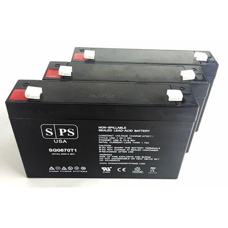 SPS Brand 6V 7 Ah Replacement Battery for Makita 9.6v BMR100, 9120, 6222D, 6260D, 6226D (3