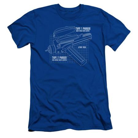 Star Trek/Phaser Plans Mens Slim Fit Shirt - Phaser Gun