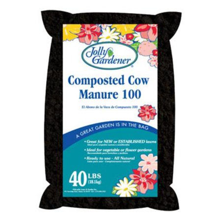 Jolly Gardener 50055026 Compost Cow Manure 40 Lbs