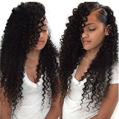 ALI JULIA Wholesale 7A Malaysian Virgin Deep Wave Hair Weave 3 Bundles 100% Unprocessed Remy Human Hair Extensions 95-100g/pc Natural Black