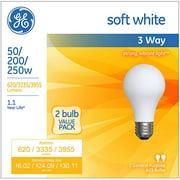 GE Halogen Soft White 3-Way 50/200/250W A21 2-pack