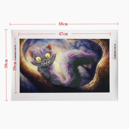 5D Diamond Embroidery Cat Diamond Painting Cross Stitch Kits Home Decor 22.8x15.4 inch Canvas+Resin Diamond - image 2 de 8