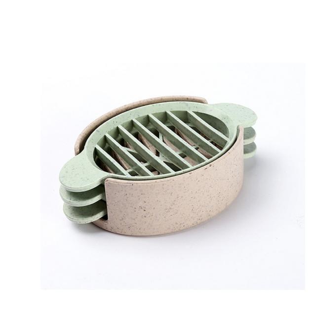 Mosunx Wheat Straw Egg Cutter Split Device Food Divider Slicer Egg Slicer