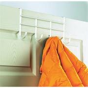 Spectrum 4 Large Hooks Over-The-Door Hook Rail