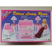 Gloria Delxe Living Room for Barbie dolls and Dollhouse Furniture