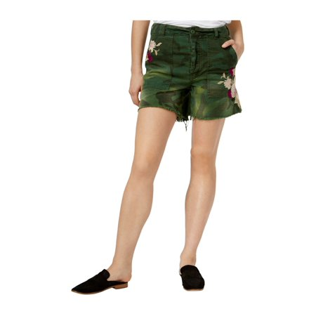 Free People Womens Floral Casual Denim Shorts (Free People Shorts)