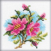 "Dog Rose Counted Cross Stitch Kit-4""X4"" 14 Count"