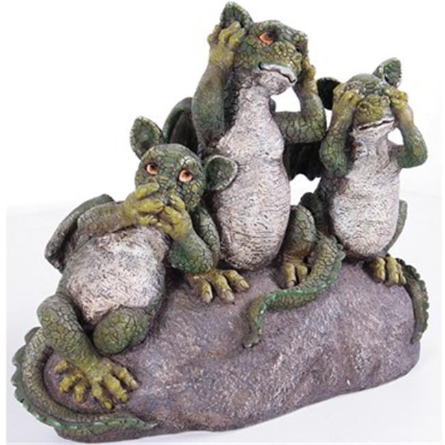 Kelkay KEL4913 Say Hear & Seenothing Green Dragons, 2 Per Case