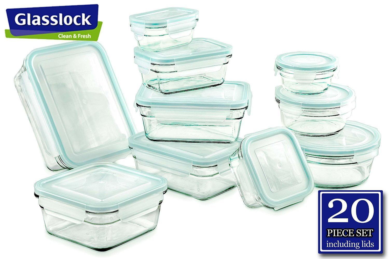 Glasslock Clear Airtight Storage Containers 20 Piece Set   Walmart.com