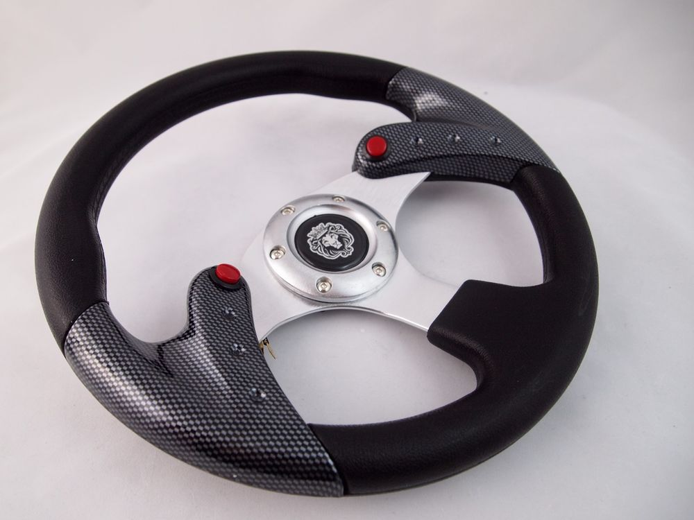 """Boat Steering WHITE wheel With Adapter 3 spoke boats 3//4/"""" tapered key Marine"""