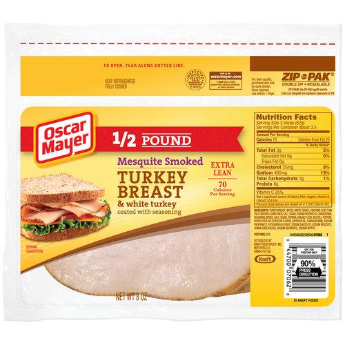 Oscar Mayer Sliced Mesquite Smoked Turkey Breast & White Turkey, 8 oz