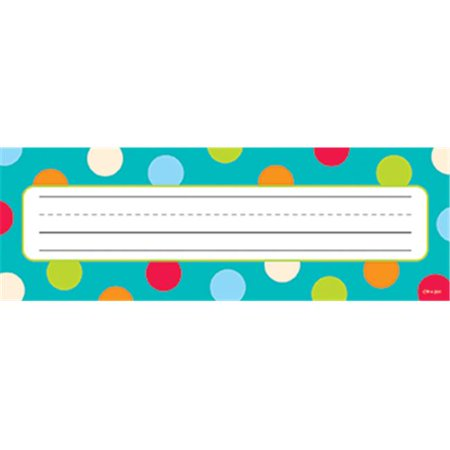 Creative Teaching Press CTP4521 Dots On Turquoise Name Plates - Teaching Supply Stores
