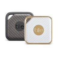 Tile Sport + Tile Style - Key Finder. Phone Finder. Anything Finder - 2 Pack, Graphite/Gold