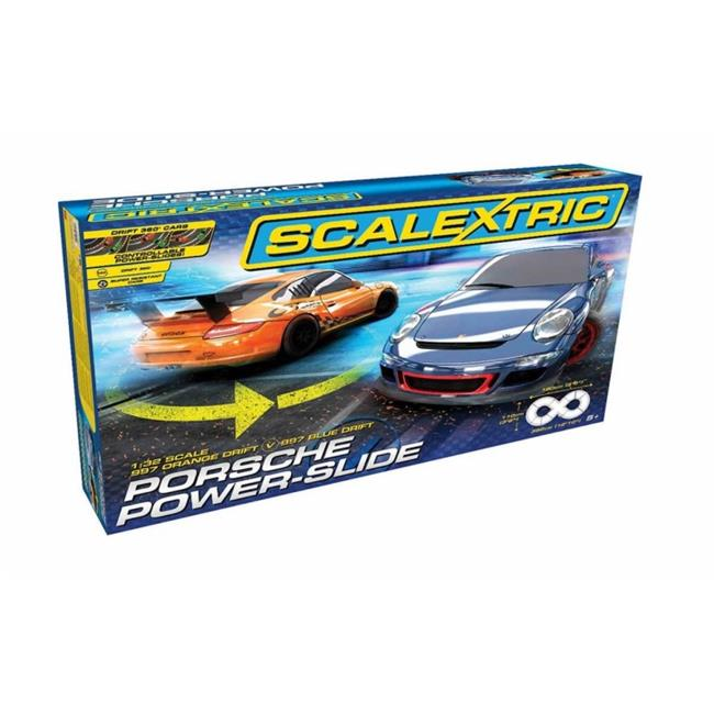 Scalextric C1343T Porsche Power-Slide 1-32 Slot Car Race Set, Age 8 Plus