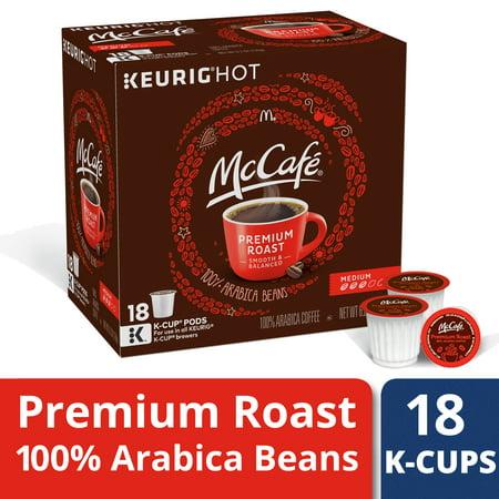 McCafe Premium Roast Medium Coffee K-Cup Pods, Caffeinated, 18 ct - 6.2 oz Box