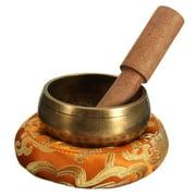 3Pcs/ Set Buddhist Hammered Copper Music Singing Bowl+ Wooden Hand Hammer + Mat Healing Prayer Tibetan Meditation Yoga