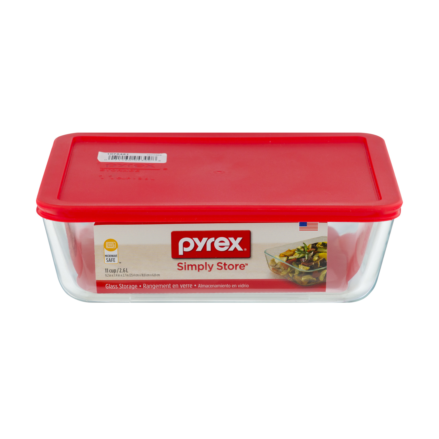 Pyrex Simply Store Glass Storage 11 Cup, 1.0 CT