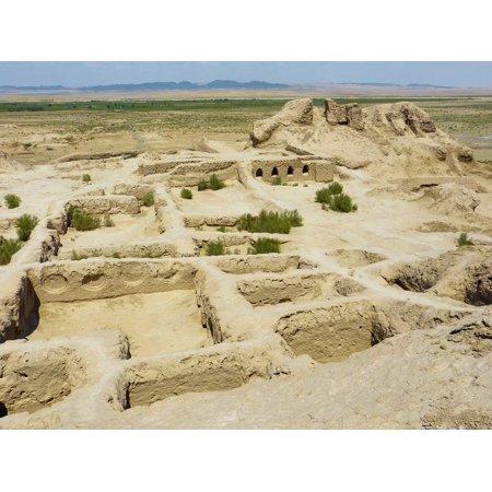 Canvas Print Old Fortress Tamanna Kala Desert Bukhara Stretched Canvas 10 x 14 ()