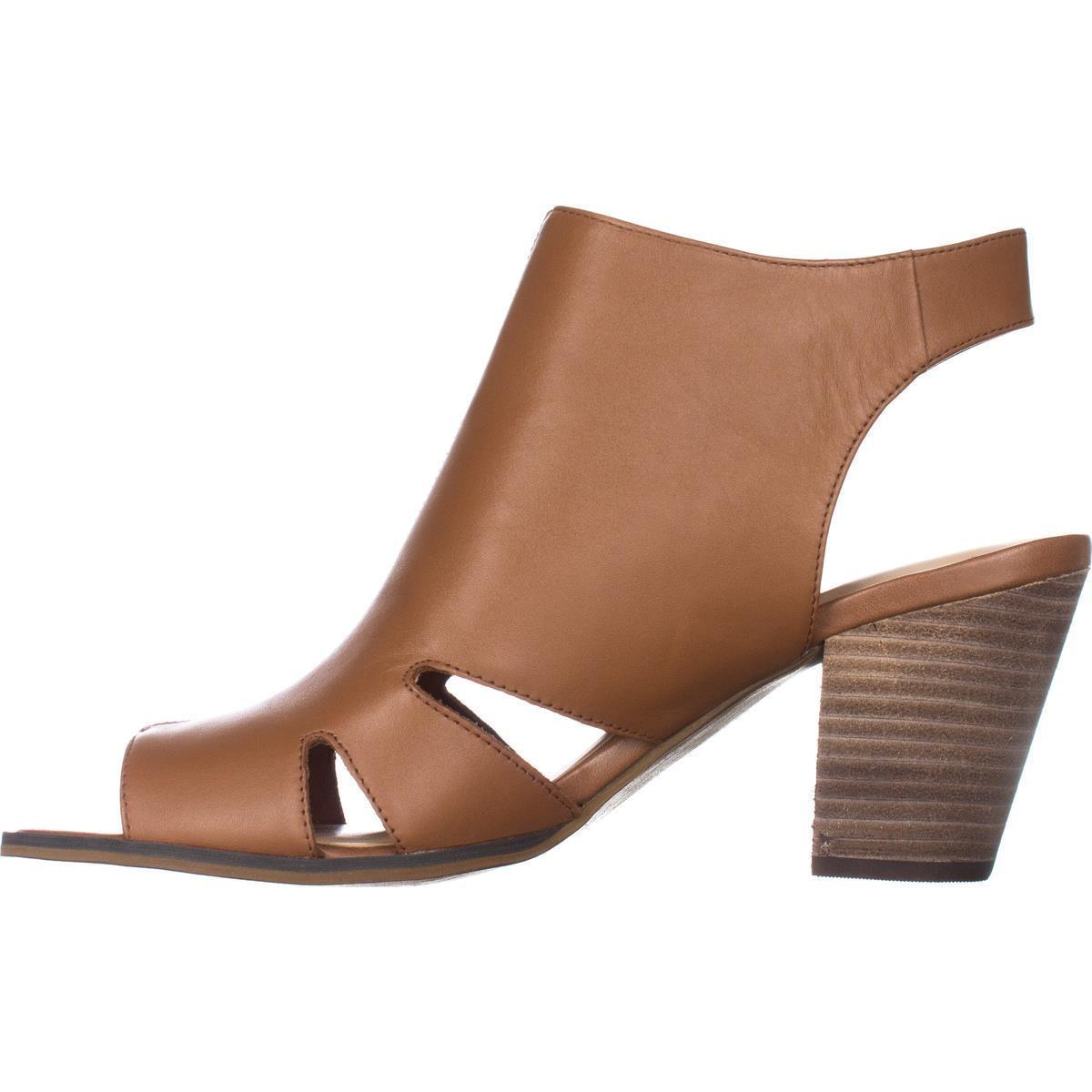 Womens Bella Vita Kimmy Peep Toe Heeled Zip Cut Out Sandals, Biscuit