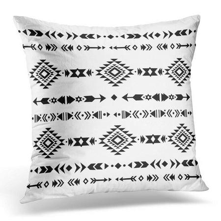 ECCOT Geometric Ethnic Pattern Design Tribal Aztec Ornamental Style Native American Ornaments Navajo Pillowcase Pillow Cover Cushion Case 18x18 inch ()
