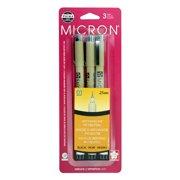 Sakura Pigma Micron Fineliner Pens, Archival Black, 01 Tip Size, 3 Pk