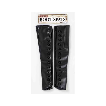 STEAMPUNK BOOT SPATS-BLACK