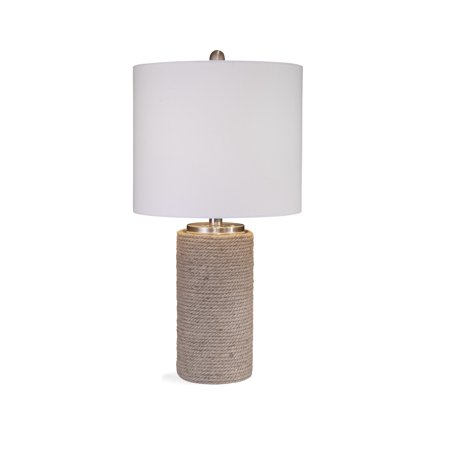 Bassett Mirror Lakeland Table Lamp in Natural Rope Finish (Lakeland Outlet Stores)