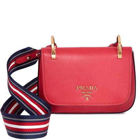 Prada Leather Shoulder Bag- Red ()