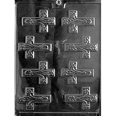 Grandmama's Goodies R021 Fancy Cross Chocolate Candy Soap Mold with Exclusive Molding Instructions - Paracord Cross Instructions