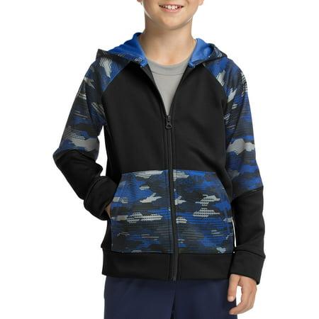Fleece Boys Sweatshirt (Hanes Tech Fleece Full Zip Active Hoodie (Little Boys & Big Boys))