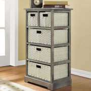 Ameriwood Home Altra Grey Storage Unit with 5 Baskets