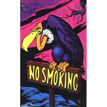 Black Light - No Smoking Vulture Poster Poster Print