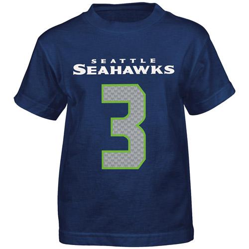 NFL Boys' Seattle Seahawks Russell Wilson Short Sleeve Player Tee