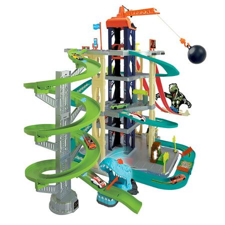 Adventure Force Ultimate Dino City Garage (Dinosaur Car Track)