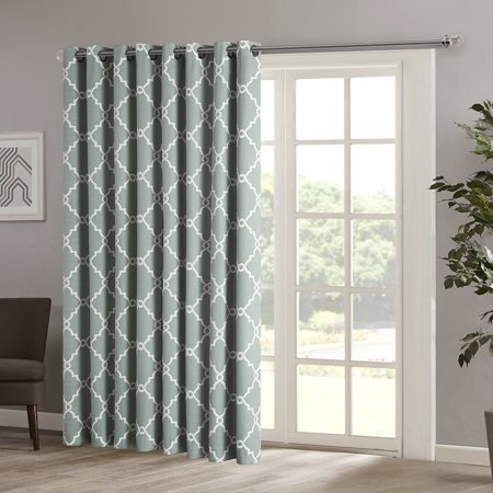 Saratoga Fretwork Print Patio Window Curtain, 100 x 84