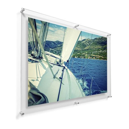 Laude Run 28 X40 Pina Double Panel Picture Frame