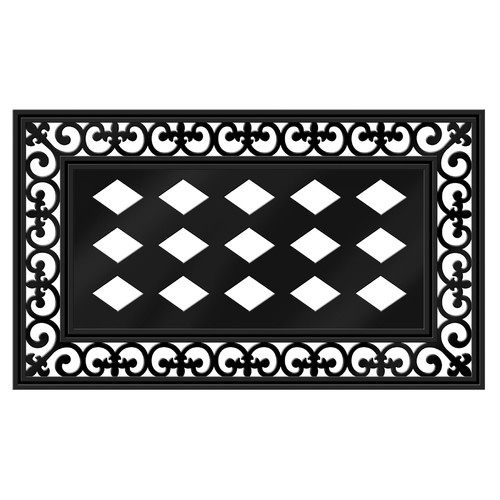 Beau Product Image Evergreen Rubber PVC Decorative Floor Mat Insert Frame, 30 X  18 Inches