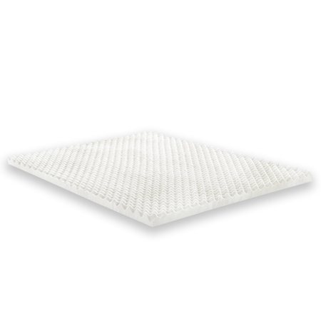 Convoluted Mattress Pad (Wayton Mattress Topper- 1 Inch Convoluted Egg Crate Breathable Foam)