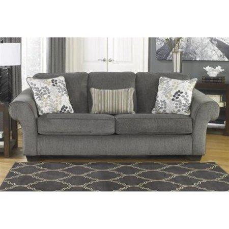 Ashley Makonnen Chenille Sofa In Charcoal Walmart Com