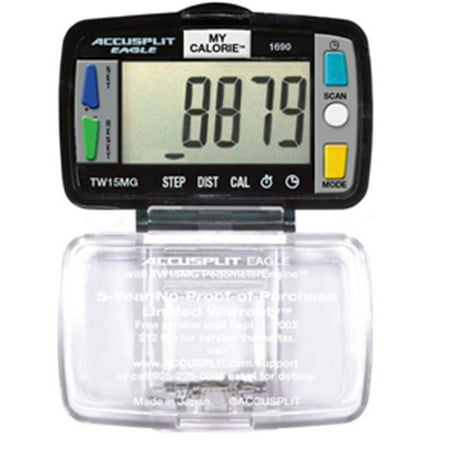 Image of Accusplit AE1690-XBX Super Thin Multi-Function Pedometer Packed in UNIT BOX