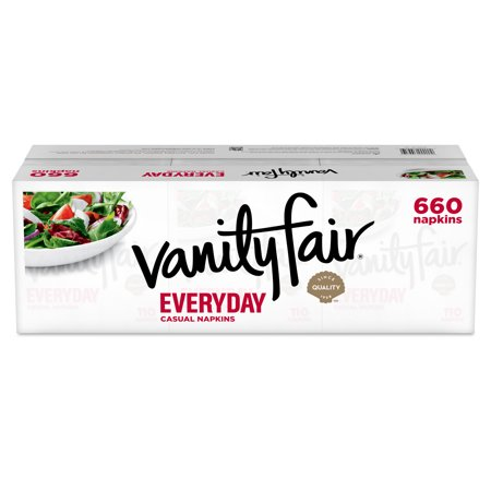 Vanity Fair Everyday Paper Napkins, 2-ply White, 660ct