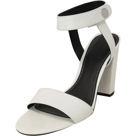 Kendall + Kylie Women's Rowan 3 White Ankle-High Leather Heel - 9M