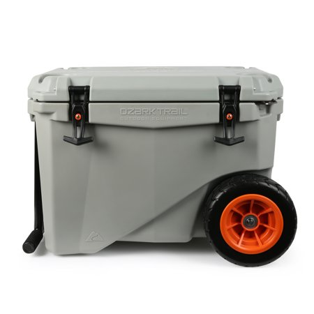 Ozark Trail 45-Quart High-Performance Wheeled Cooler, Grey
