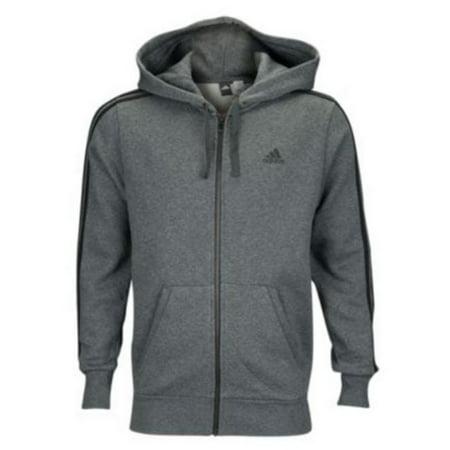 c67a8f2b27a Adidas Essentials 3-Stripe Full Zip Fleece Hoodie - Mens - Walmart.com